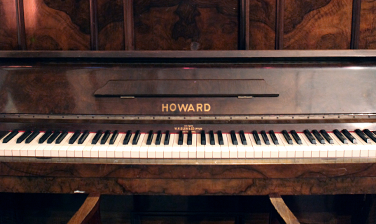 Howard upright piano in the recording room
